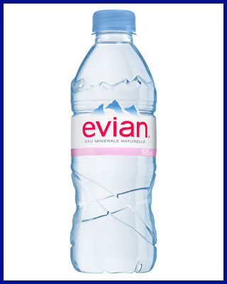 Agua Evian mineral sin gas 50 cl pet