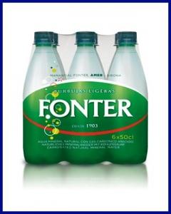 Agua con gas Fonter 50cl PET