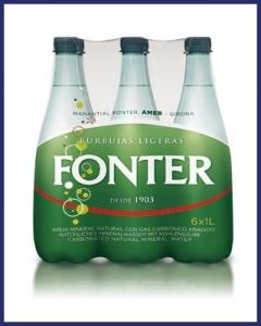 Agua con gas Fonter 1L PET