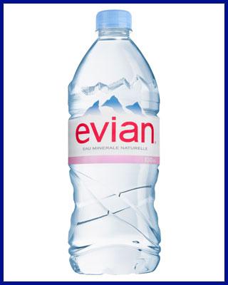 Agua Evian mineral sin gas 1L pet