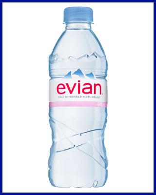 Agua Evian mineral sin gas 50 cl pet