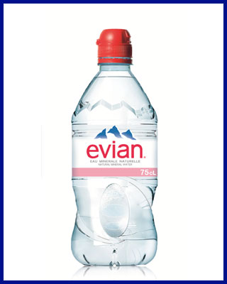 Agua Evian mineral sin gas con tapon sport 75 cl pet